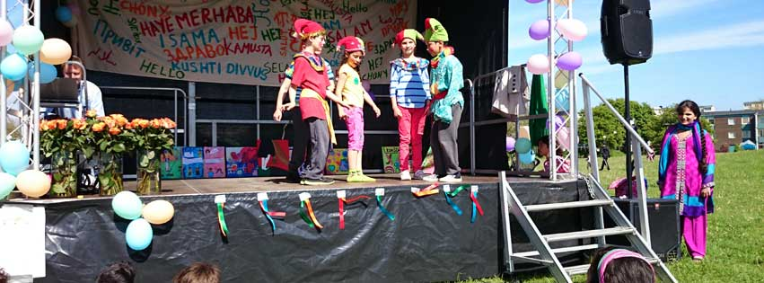 Barnteatergruppen deltar i Chansen 2015