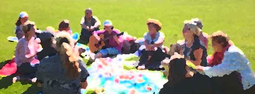 Пикник с игрой в лапту