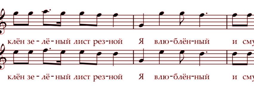 Tonernas namn på ryska, ukrainska, vitryska och svenska