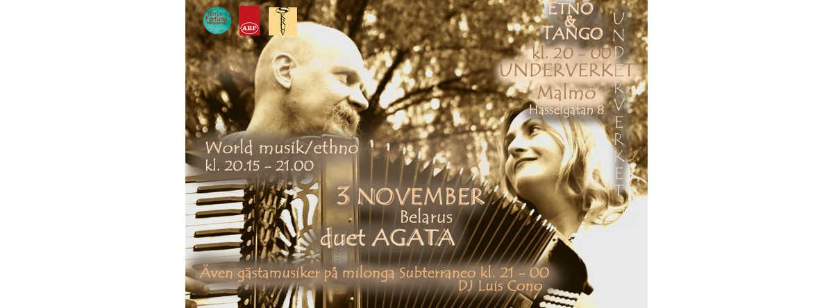 Konsert med vitrysk etnoduett och milonga